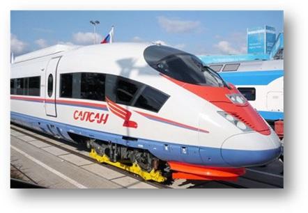 Description: Russian train - Sapsan (St. Petersburg - Moscow)
