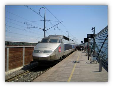 Description: TGV at Avignon