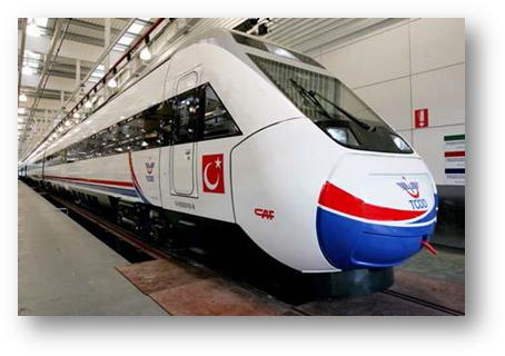 Turkey first high speed train